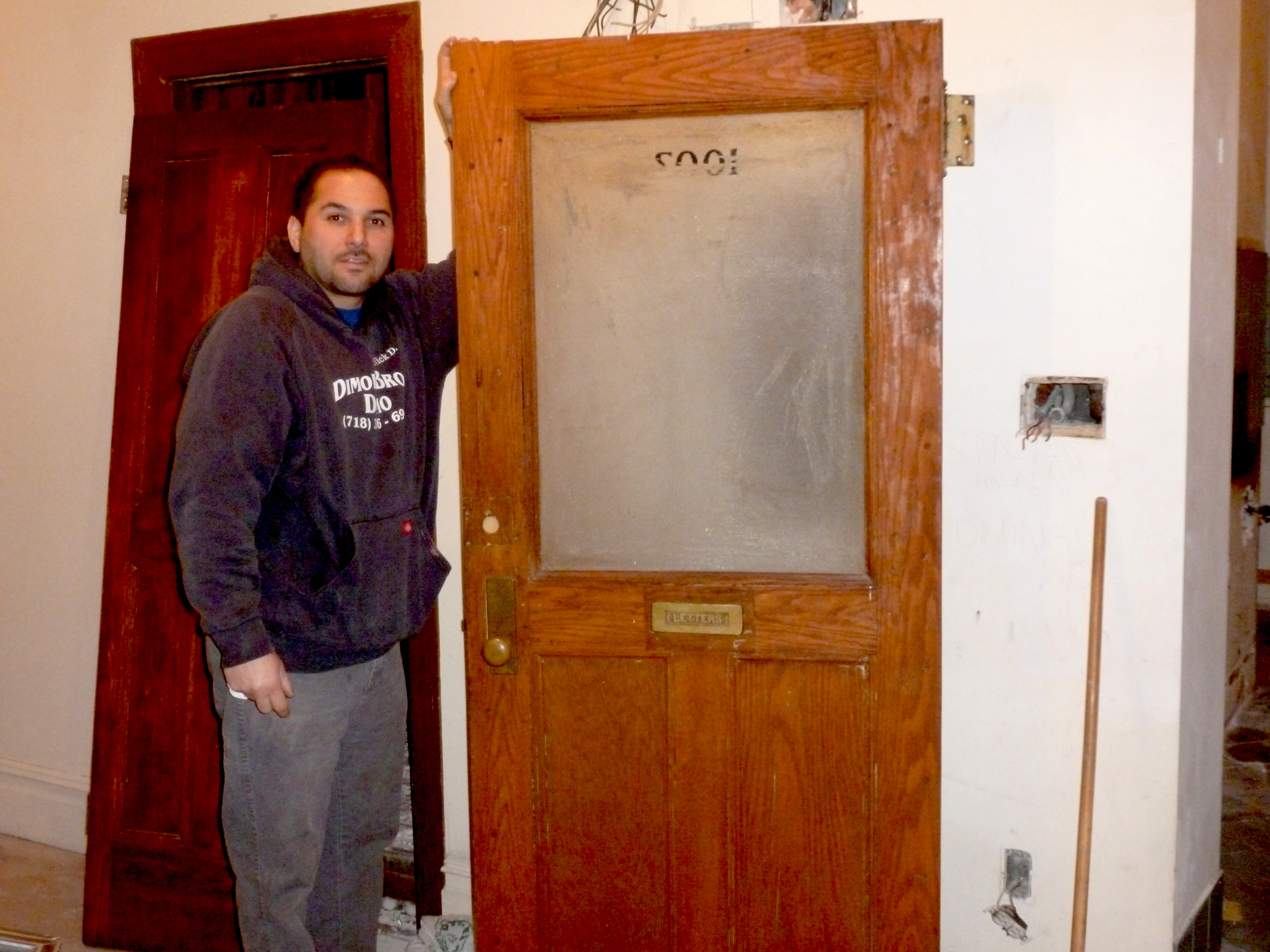 DiMola opens new doors in NYC apartment wall removal job  sc 1 st  Trash Treasures of New York City - WordPress.com & DiMola opens new doors in NYC apartment wall removal job | Trash ...