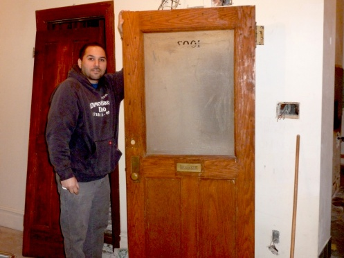 new doors in nyc apartment wall removal job trash treasures of new