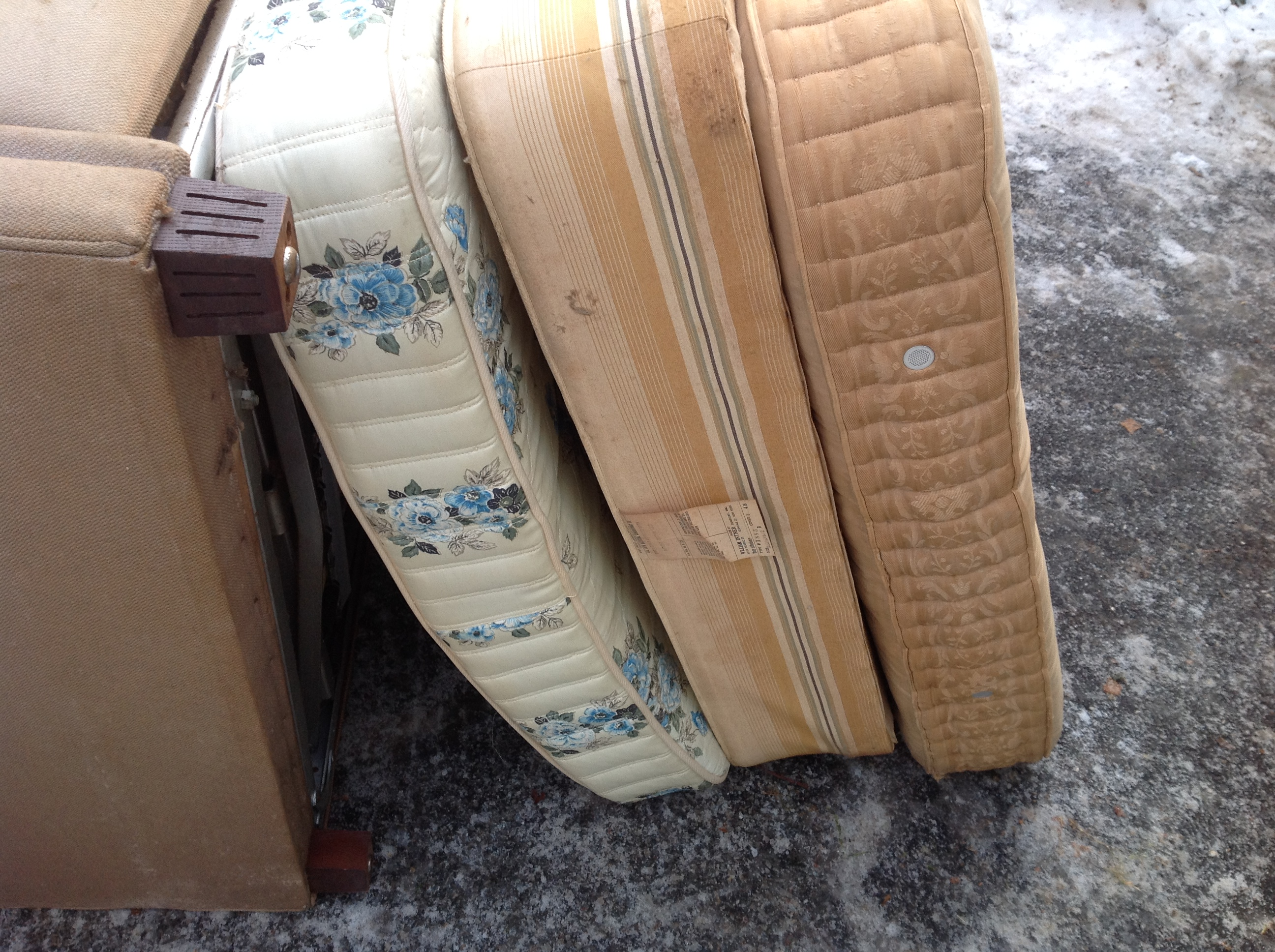 Junk removal job pany finds 50 year old mattress in