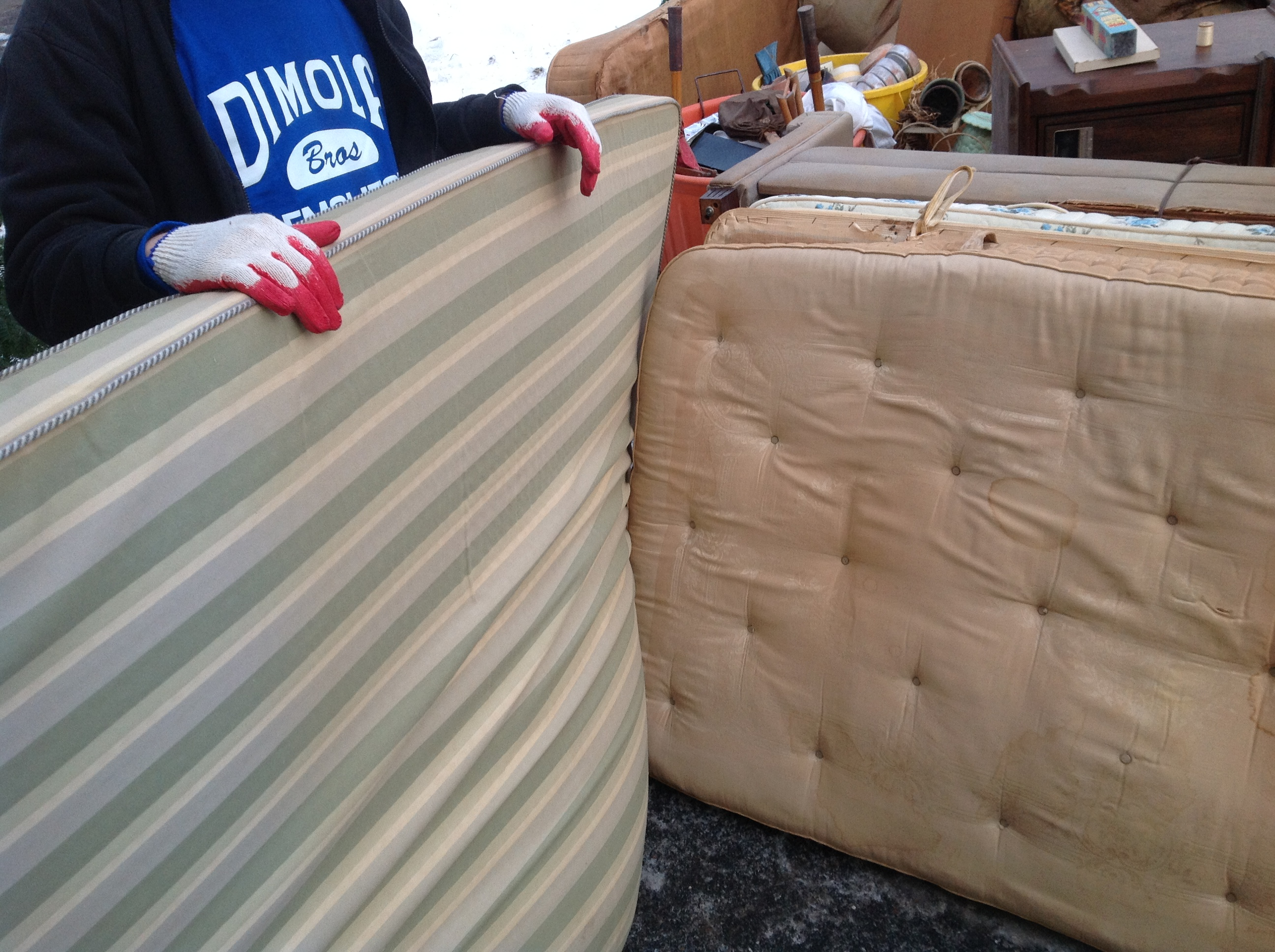 Junk Removal Job Company Finds 50 Year Old Mattress In